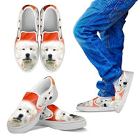 Great Pyrenees Print Slip Ons For Kids- Express Shipping