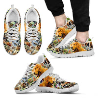 Lovely Golden Retriever Print-Running Shoes For Men-Express Shipping