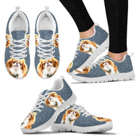 Customized Dog Print-Running Shoes For Women-Limited Edition-Designed By Mary Wagman-Paww-Printz-Merchandise