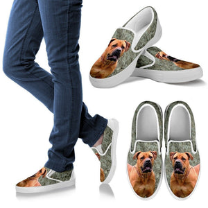 South African Boerboel Dog Print Slip Ons For Women-Express Shipping