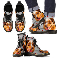 Miniature American Shepherd Print Boots For Men-Express Shipping