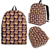 Norwich Terrier Print Backpack-Express Shipping