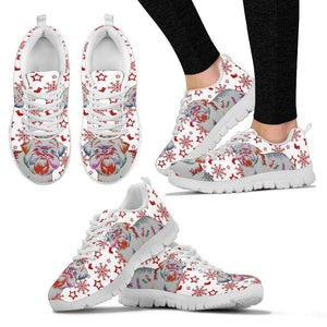 Brussels Griffon Christmas Print Running Shoes For Women-Free Shipping