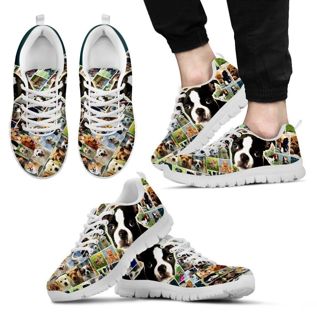 Lovely Boston Terrier Print- Running Shoes For Men-Express Shipping