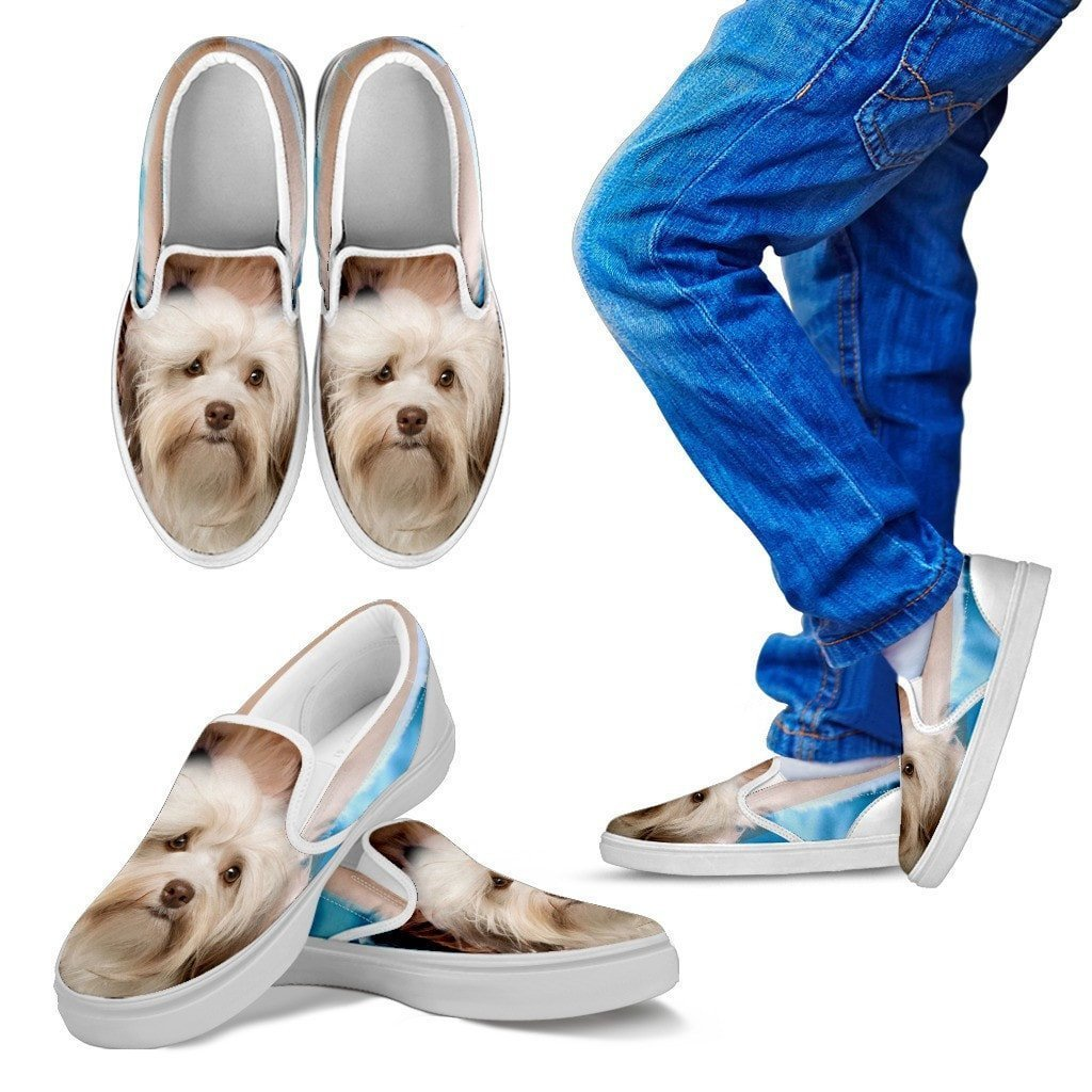 Cute Havanese Print Slip Ons For Kids- Express Shipping