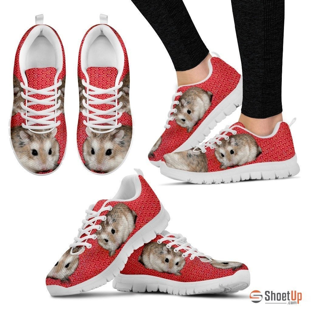 Roborovski Hamster (Black/White) Running Shoes For Women-Free Shipping