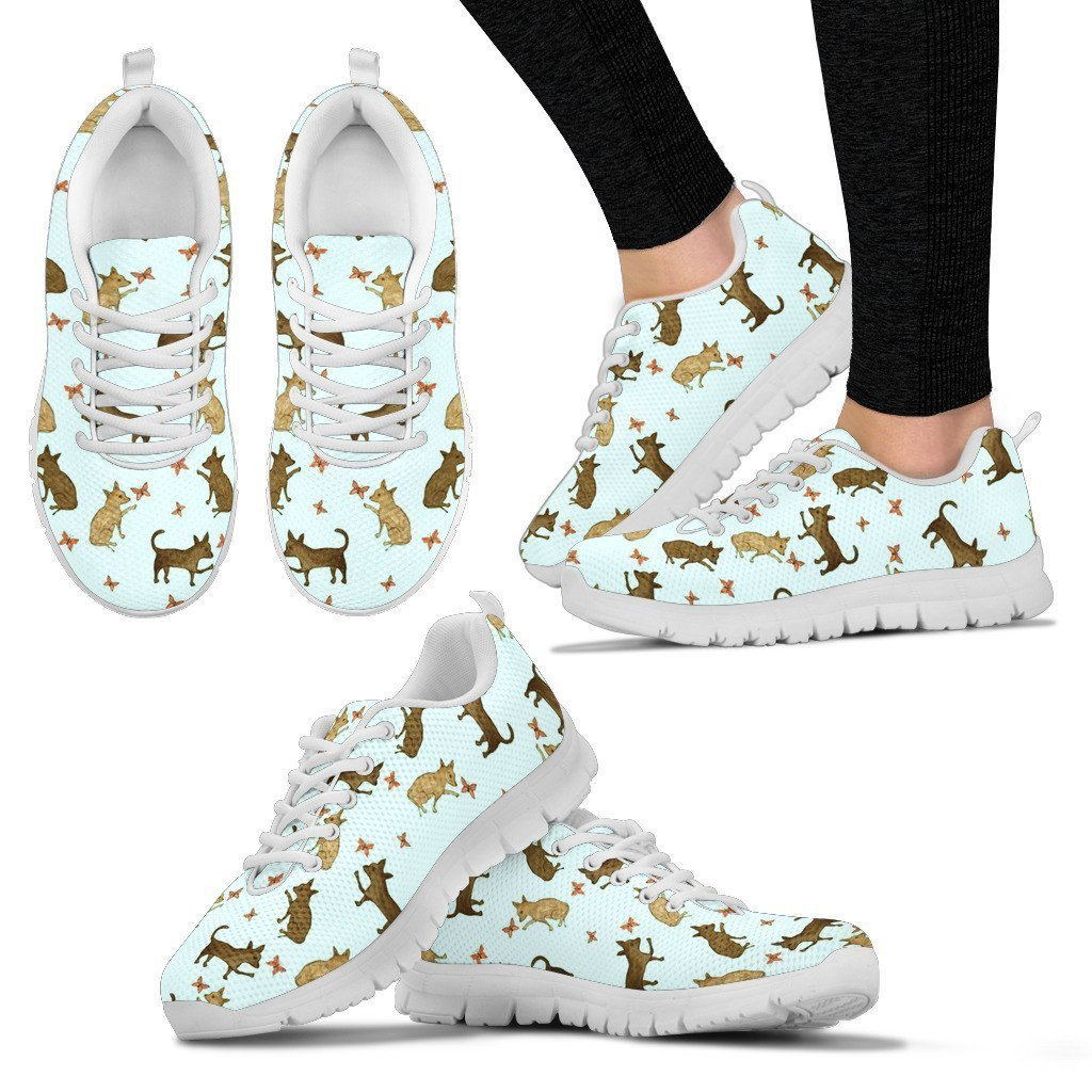 Chihuahua Pattern Print Sneakers For Women- Express Shipping
