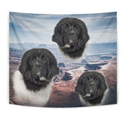 Lovely Newfoundland Dog Print Tapestry-Free Shipping
