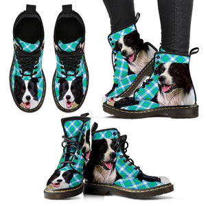 Border Collie Print Boots For Women-Express Shipping