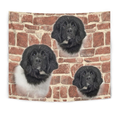Newfoundland Dog Print Tapestry-Free Shipping
