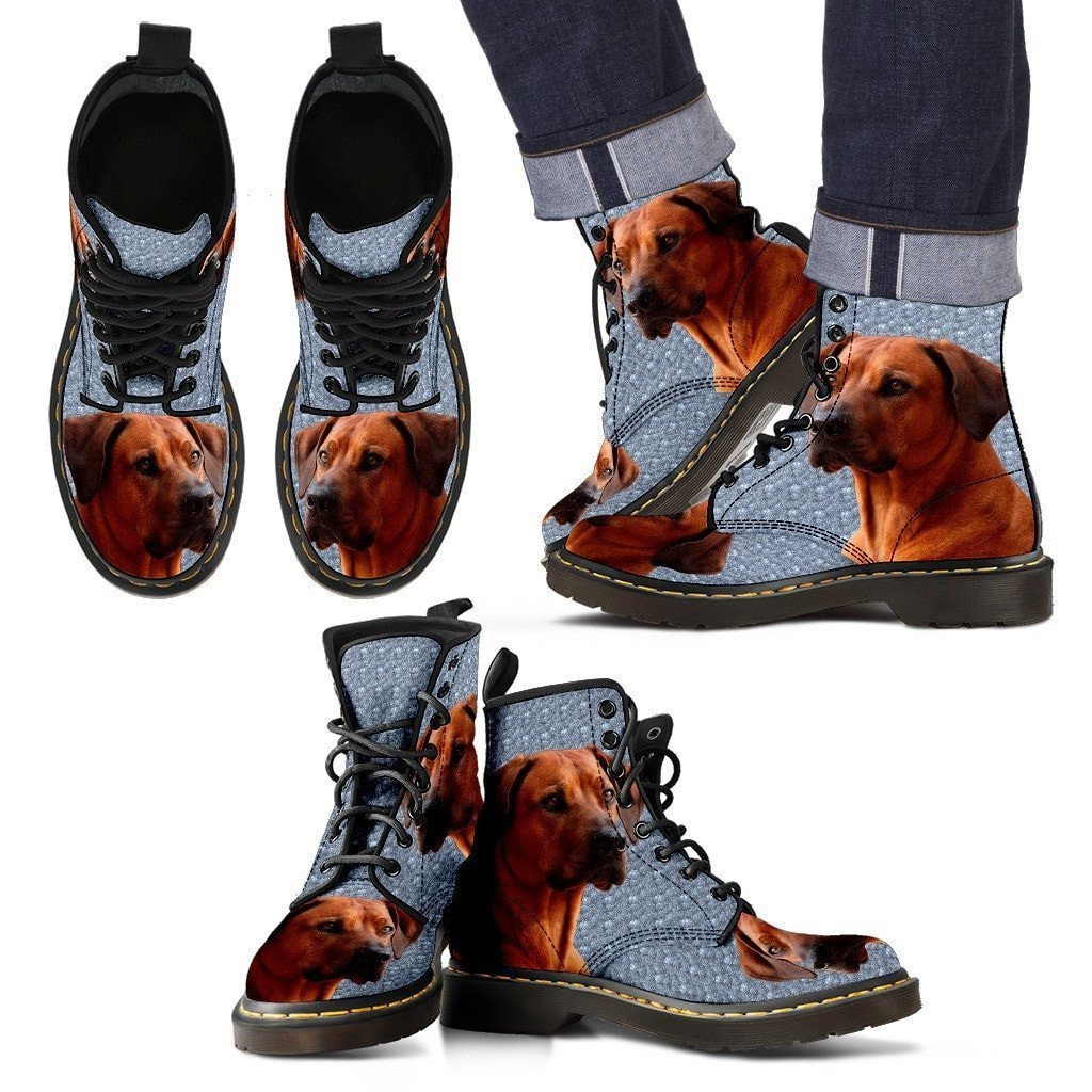 Rhodesian Ridgeback Print Boots For Men-Express Shipping