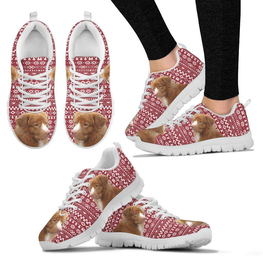Nova Scotia Duch Troling Retriever Christmas Print Running Shoes For Women-Free Shipping