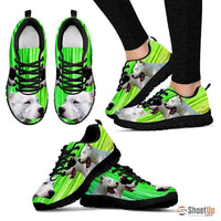 Dogo Argentino Print (Black/White) Running Shoes For Women-Free Shipping