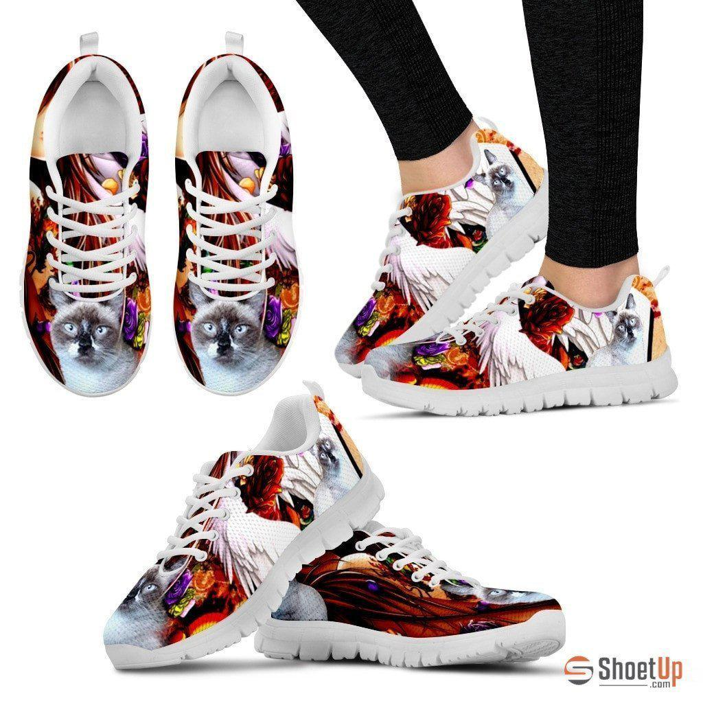 Gerardette McCarthy/ Cat Print Running Shoe For Women- Free Shipping