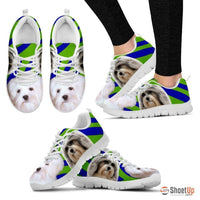 White Lowchen Dog Running Shoes For Women-Free Shipping