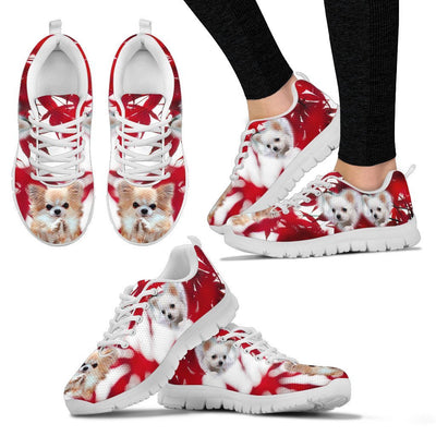 Valentine's Day Chihuahua Dog On Red Print Running Shoes For Women- Free Shipping
