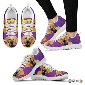 Broholmer Dog (White/Black) Running Shoes For Women-Free Shipping
