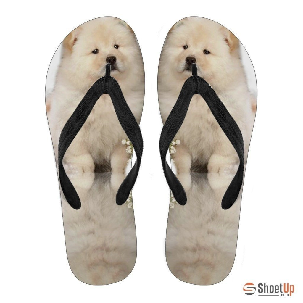 Chow Chow Puppy Flip Flops For Women-Free Shipping