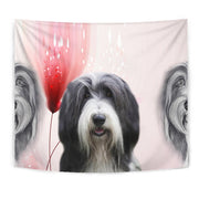 Bearded Collie Print Tapestry-Free Shipping
