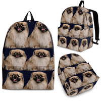 Pekingese Dog Print Backpack-Express Shipping