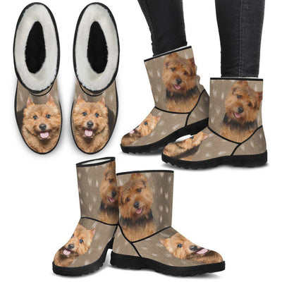 Norwich Terrier Print Faux Fur Boots For Women-Free Shipping