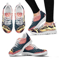 Customized Snake Print-Running Shoes For Women-Express Shipping-Designed By Tracy Neill