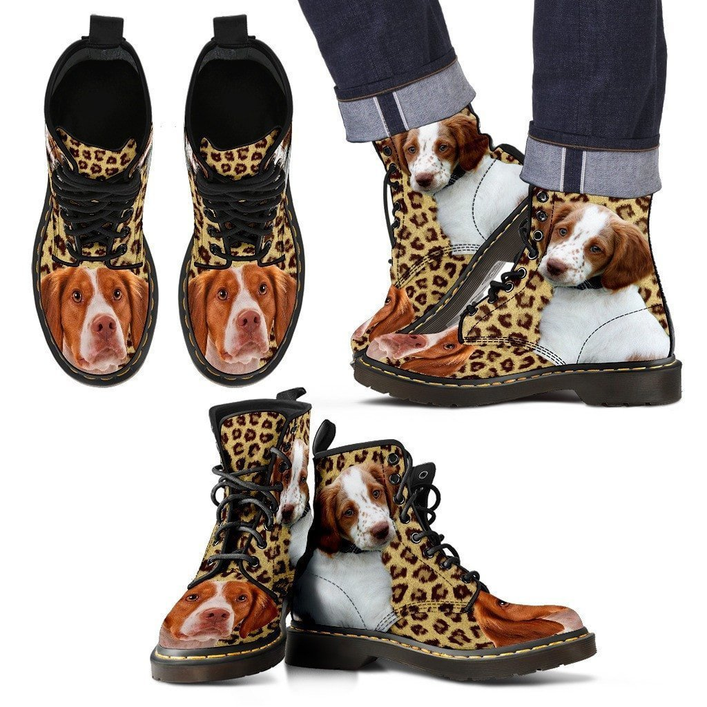 Brittany Print Boots For Men-Express Shipping