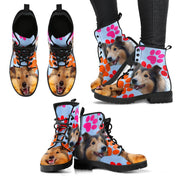 Shetland Sheepdog Print Boots For Women-Free Shipping