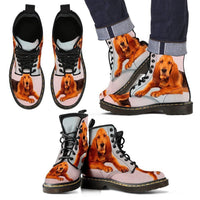 Bloodhound Print Boots For Men-Express Shipping