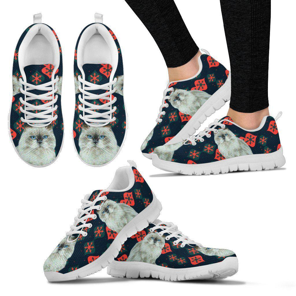 Himalayan Cat Christmas Print Running Shoes For Women-Free Shipping