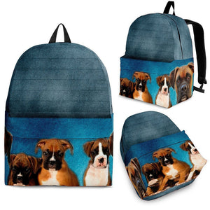 Boxer Dog Print Backpack- Express Shipping