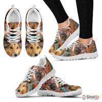 Shetland Sheepdog Dog Print Running Shoe For Women- Free Shipping