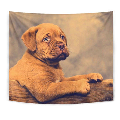 Dogue De Bordeaux (Bordeaux Mastiff) Puppy Print Tapestry-Free Shipping