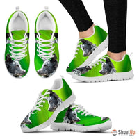 Mudi Dog Print (Black/White) Running Shoes For Women-Free Shipping