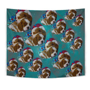 Cavalier King Charles Spaniel Dog On Heart Print Tapestry-Free Shipping