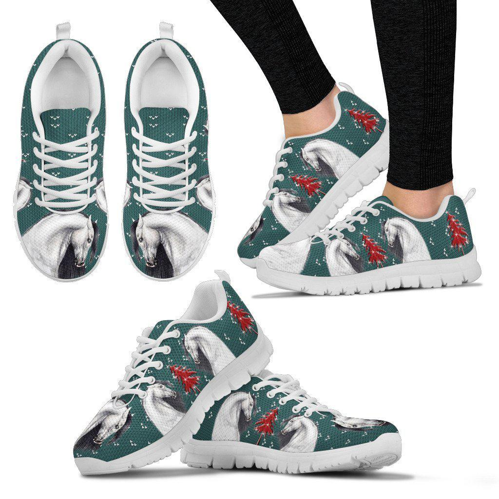Andalusian horse Print Christmas Running Shoes For Women-Free Shipping