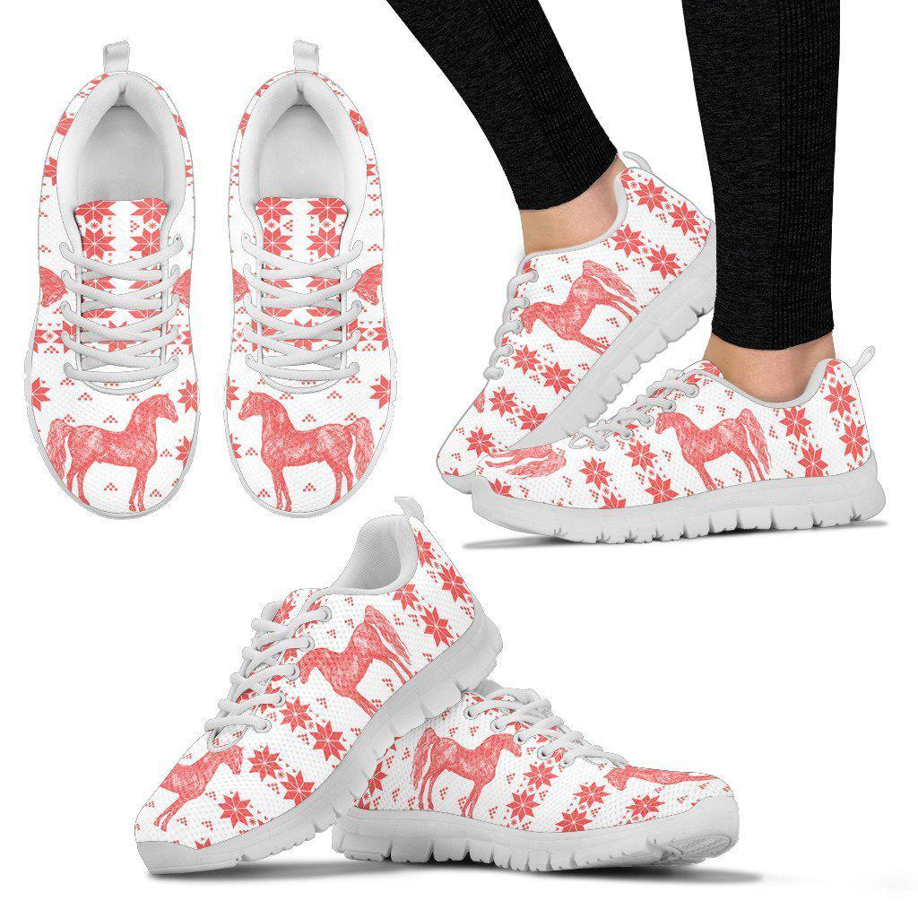Morgan horse Print Christmas Running Shoes For Women-Free Shipping