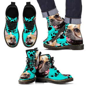 French Bulldog Print Boots For Men-Limited Edition-Express Shipping