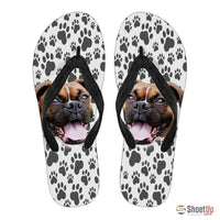 Boxer Print Flip Flops For Women-Free Shipping