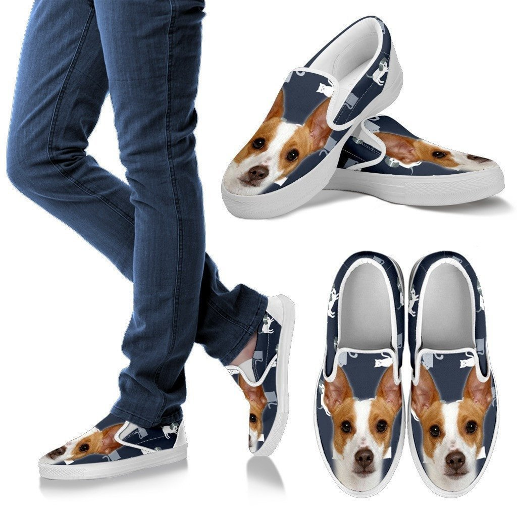 Rat Terrier Print Slip Ons For Women- Express Shipping