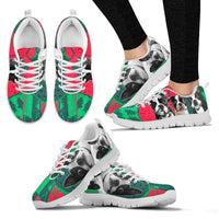 Boston Terrier Christmas Running Shoes For Women- Free Shipping