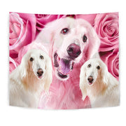 Afghan Hound Dog Print Tapestry-Free Shipping