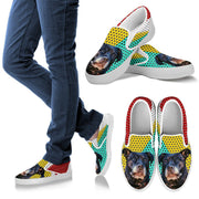 Cute Shadow Print Slip Ons For Women- Free Shipping