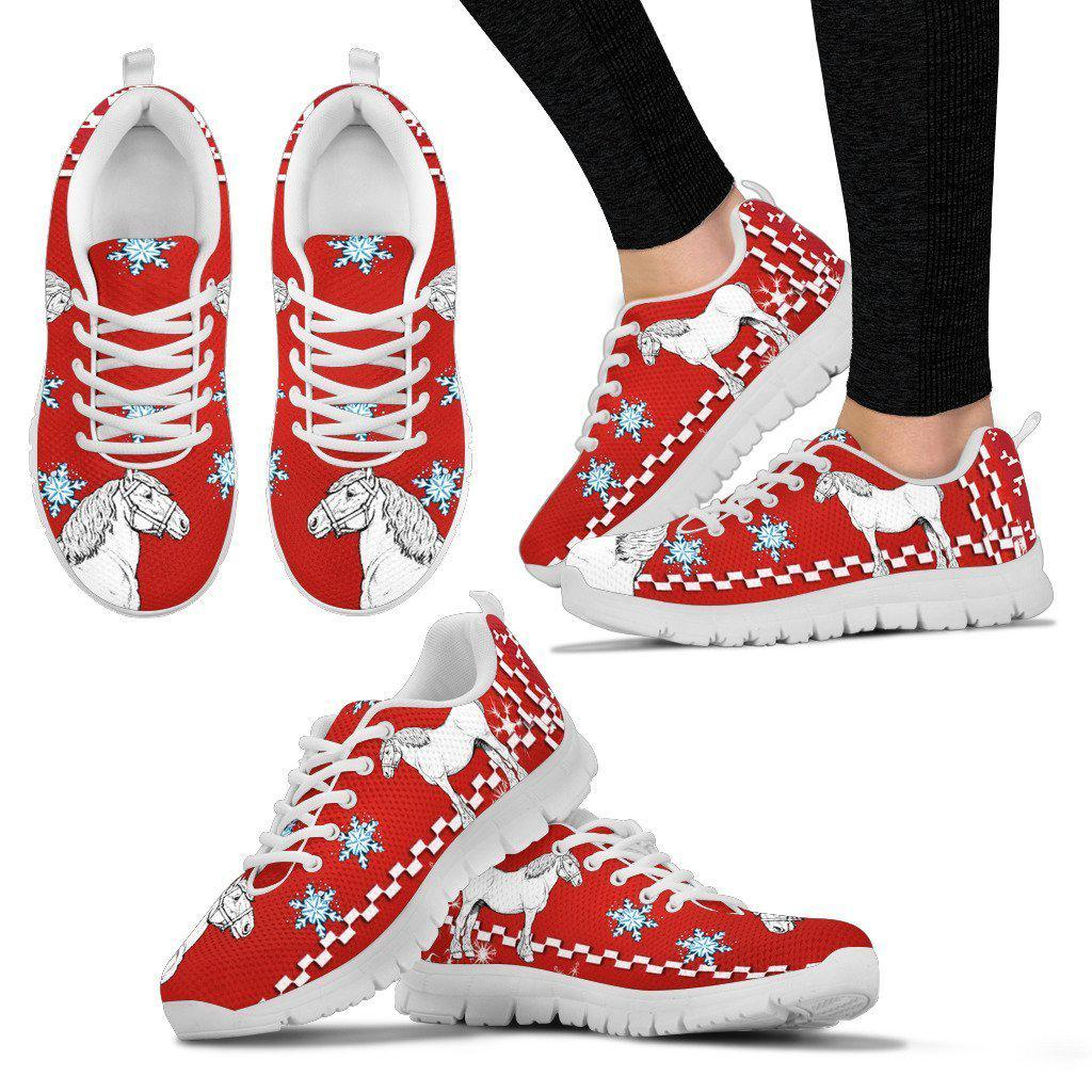 Clydesdale Horse Christmas Running Shoes For Women- Free Shipping
