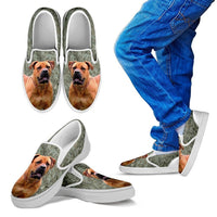 South African Boerboel Dog Print Slip Ons For Kids-Express Shipping