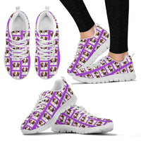 Brittany Dog Pattern Print Sneakers For Women- Express Shipping
