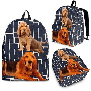 Bloodhound Dog Print Backpack-Express Shipping