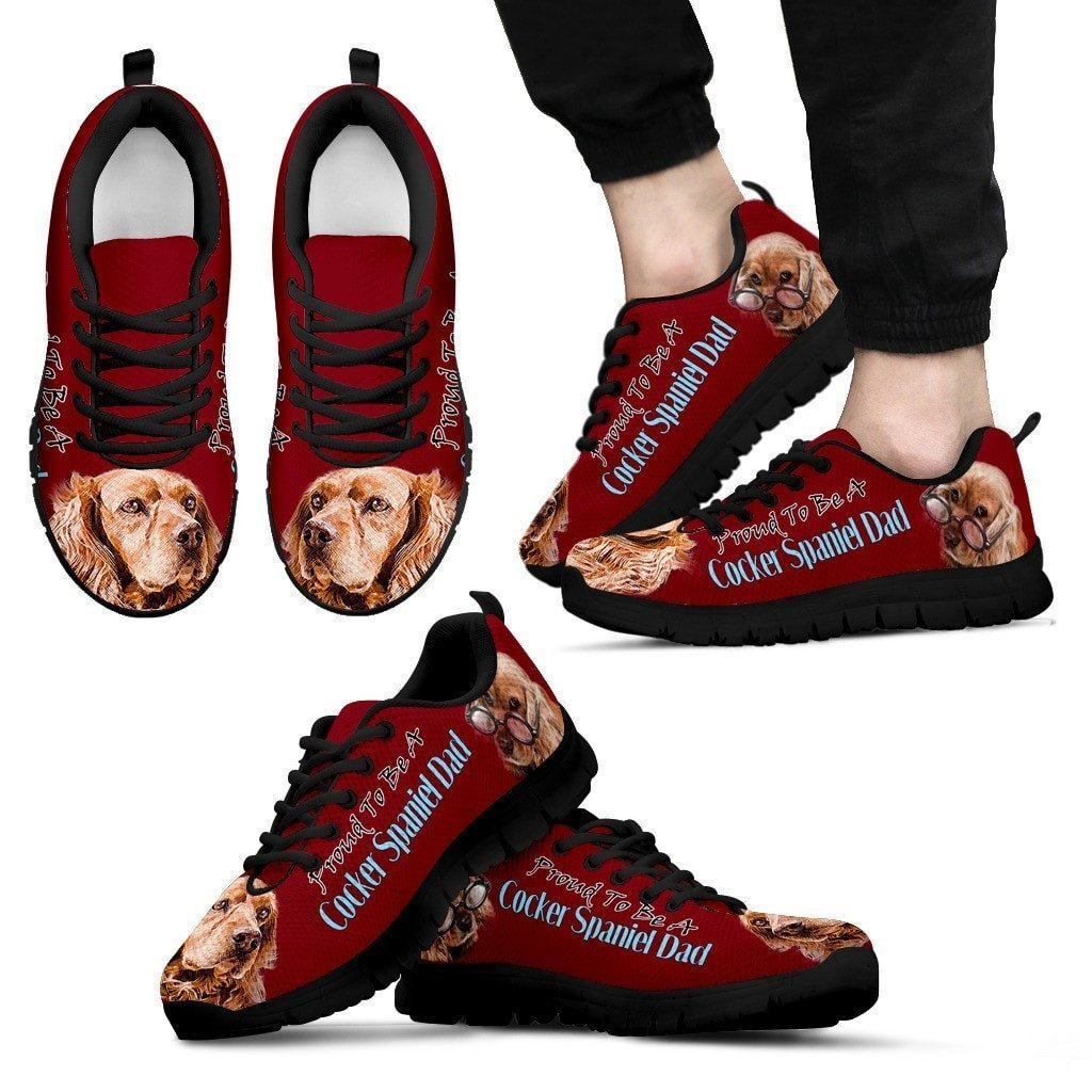 Proud To Be Cocker Spaniel Dad Sneakers For Men- Father's Day Special