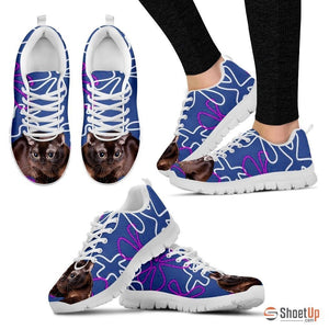 Burmese Cat  Print (White/Black) Running Shoes For Women-Free Shipping