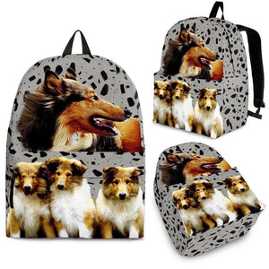 Collie Dog Print Backpack- Express Shipping